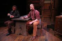 Sterling Gafford (left) and Blake Blair act out a scene from<i>Day Light</i> at Theatre Three in Dallas.(Rose Baca/Staff Photographer)