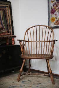 A chair sits in the master bedroom of Richard Theiss. Andy Jacobsohn/Staff Photographer