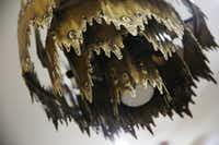 A chandelier hangs in the dining room (Andy Jacobsohn/Staff Photographer)