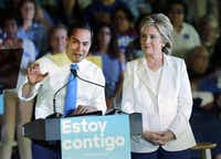 Julian Castro campaigned heavily for Hillary Clinton and was in contention to become her running mate. (File/The Associated Press)