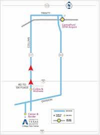 The MAX bus line route(City of Arlington)