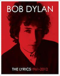 "This book cover image released by Simon & Schuster shows ""The Lyrics: 1961-2012,"" a guide to song lyrics by Bob Dylan.  (Simon & Schuster via AP).(AP)"