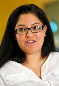 Mother Priscilla Salas says she's gained self-confidence through the program. (Tom Fox/Staff Photographer)(<p><br></p><p></p>)