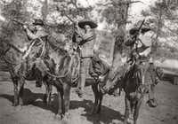 A photograph by Byrd II of Pancho Villa's Villastas Bandits photographed south of El Paso in 1915.