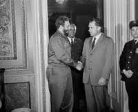 In April 1959, Vice President Richard Nixon met with Fidel Castro in Washington, D.C.(AP)