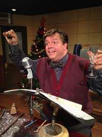 B.J. Cleveland stars in the one-man show, 'A Christmas Carol: The Radio Show' at Theatre Too at Theatre Three Nov. 25-Dec. 11, 2016(Marty Van Kleeck)