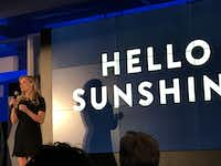 Actress Reese Witherspoon made a surprise appearance to talk about Hello Sunshine, a production company that will make female-driven TV shows, films and podcasts.Melissa Repko/The Dallas Morning News