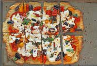 Tomato, olive and ricotta tart(Ellise Pierce)