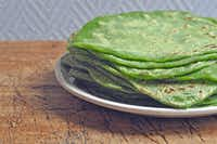 Spinach tortillas Ellise Pierce