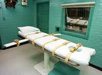 The execution chamber at the Texas Department of Criminal Justice Huntsville Unit. (Agence France-Presse)
