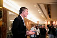Rep. Jeb Hensarling, R-Dallas, was among the select group of Texans to get an interview this month at Trump Tower. (Sam Hodgson/The New York Times)
