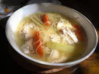 Leslie Brenner's chicken soup(Leslie Brenner/Staff)
