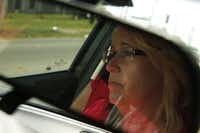 Tarrant County CPS child-abuse investigator Kelli Bailey drives to an appointment with a possible abuser in Fort Worth, Texas June 21, 2016.  Bailey has worked for the CPS unit specializing in sexual abuse and fatalities for five years. (Nathan Hunsinger/The Dallas Morning News)