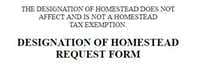 Homestead Recording Service gives part of the required disclaimer on the top of its form, the rest on the bottom.