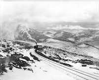 This is historical photo circa 1925 of the Cog Railway to Pikes Peak, now operated by Broadmoor. (Photo courtesy The Broadmoor)