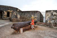 Puerto Rico - 3 year old exploring the historical El  Morro Fort Photo courtesy of IttyBittyFoodies.com  SANJUAN(Cheryl Collett)
