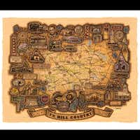 Texas designer Christopher Alan Smith's Hill Country map.