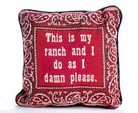 LBJ did, and you should too. This bandana-inspired pillow is from the LBJ Library.(LBJ Library photo)