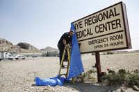 The closing of the Nye Regional Medical Center in Tonopah, Nevada Friday August 21, 2015. (Andy Jacobsohn/The Dallas Morning News)(Staff Photographer)