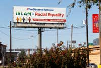 "A ""Why Islam"" billboard advertising a hotline designed to educate people about Islam during times of religious and ethnic tensions is up at the intersection of Interstate 635 and Josey Lane in northwest Dallas. (Nathan Hunsinger/Staff Photographer)"