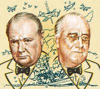Richmond, Virginia, USA - November 20th, 2012:  Cancelled Stamp From The United States Commemorating The Atlantic Charter And Featuring President Roosevelt And Prime Minister Churchill.(traveler1116/Getty Images)
