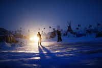 If protesters defy next week's government deadline to abandon their encampment in North Dakota, they know winter's real deep freeze lies ahead. (AP Photo/David Goldman)