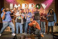 These are the finalists in the 2016 Funniest Comic in Texas competition. From left to right: C.J. Starr, Dexter Givens, Tyler Elliot, Justin Thompson, Larry Garza, Son Tran, Andy Huggins, Dez O'Neal, Alfred Kainga, Asher Allen and LaShonda Lester. (Improv Comedy Club<div><br></div><div><br></div>)
