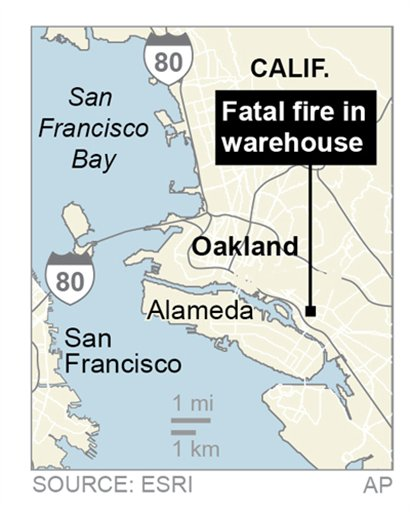 33 out of 36 identified after Oakland warehouse fire