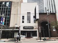 Exterior of Unbranded, a temporary pop-up store at 1517 Main St. in downtown Dallas. (Matt Alexander )