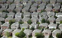 <p>A file photo of Dallas-area homes.</p>(Vernon Bryant/Staff Photographer)
