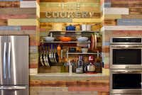 Cookware is stored on a countertop between the refrigerator and oven at The Cookery.((Ben Torres/Special Contributor))
