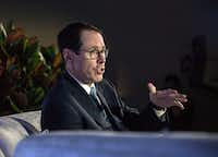 Randall Stephenson, AT&T's chief executive, has expressed optimism of late about his company's prospects under a Trump administration. (Misha Friedman/Bloomberg)