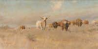 <i>Approaching Herd</i>  (1902), by Frank Reaugh.  (Panhandle-Plains Historical Museum, Canyon, Texas)