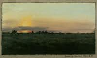 <i> Sunrise on the Prairie</i>  (1885),  by Frank Reaugh.  (Panhandle-Plains Historical Museum, Canyon, Texas)