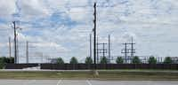 This rendering shows the view of the Oncor substation from the parking lot of the city's dog park on the opposite side of 4th Army Drive.(Courtesy Oncor)