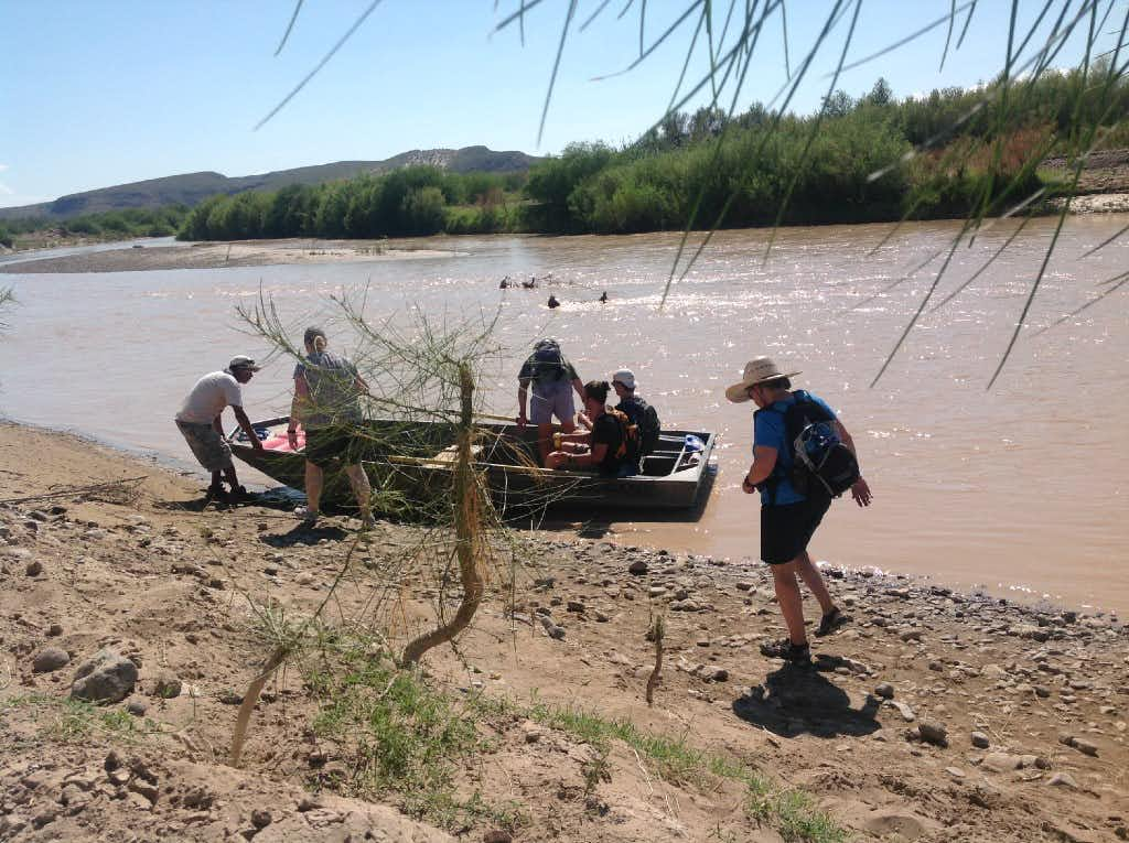 Tourists board the ferry on the banks of the Rio Grande after visiting the small town Boquillas, Mexico just across from Big Bend National Park.<div>Angela Korcherga/DMN</div>