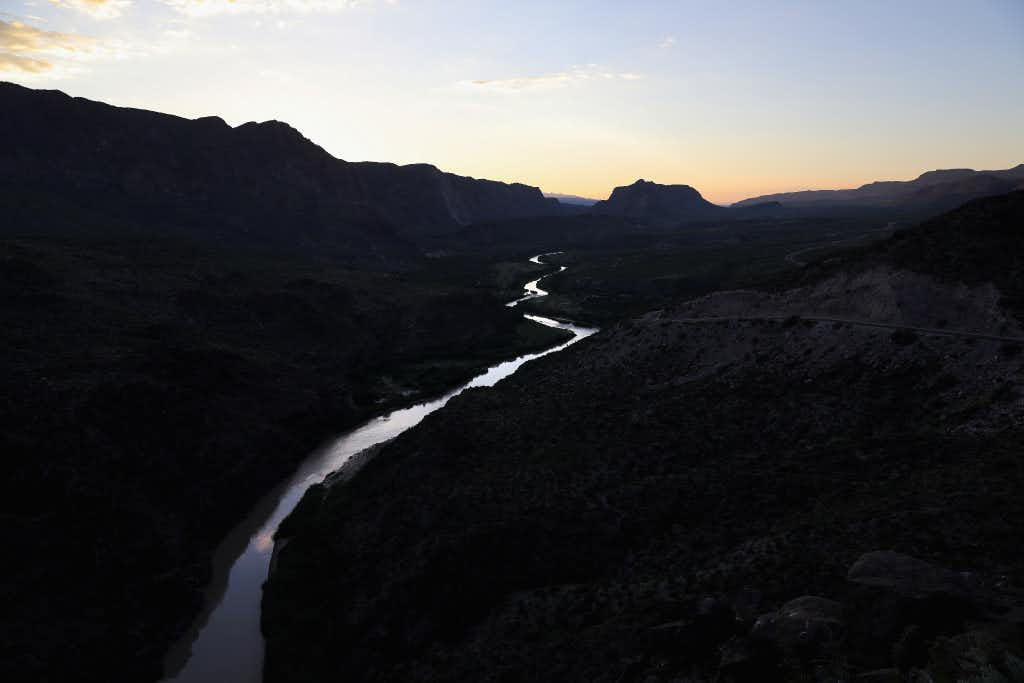 The Rio Grande forms the U.S.-Mexico border on October 15, 2016 in the Big Bend region of West Texas near Lajitas, Texas. Big Bend is a rugged, vast and remote region along the U.S.-Mexico border and includes the Big Bend National Park.  (Photo by John Moore/Getty Images)Getty Images