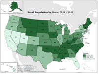 "This map appears in the census report, ""Life Off the Highway: A Snapshot of Rural America.""(U.S. Census Bureau)"