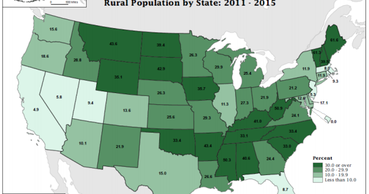 Census Data Shows Widening Divide Between Urban And Rural