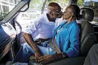 Herbert Taylor kissed his wife, Laura, goodbye as she left for a trip to a senior club on June 23. He became her caretaker after she had brain surgery because of a life-threatening aneurysm.(Smiley N. Pool)