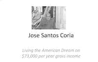 The opening slide of a government presentation about Santos Coria.((Denton County district attorney's office))