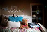 Hanna Clark's bedroom at the home of her parents, Tim and Raina Clark, in Fate. Hanna died by suicide in 2013 at the age of 15. ((Rose Baca/The Dallas Morning News))