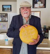 Dave Eagle has been making cheese, first in Granbury and now in his shop in nearby Lipan, since 2009. (Helen Anders)