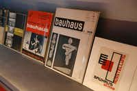 "Books on the German art school Bauhaus are displayed at the exhibition ""Oskar Schlemmer L'homme qui danse"" (Oskar Schlemmer, The Dancing Artist) at  the Centre Pompidou-Metz, eastern France in October. (AFP PHOTO/Fred MarvauxFRED MARVAUX/AFP/Getty Images)"