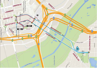 The route for Saturday's Oncor Mayor's 5K Race(Source: BMW Dallas Marathon)