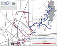 Sunday's marathon route((Source: BMW Dallas Marathon))