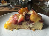 """A summer fruit and almond cake from """"Simple""""(Leslie Brenner/Staff)"""