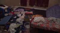 A photo of the room that seven disabled children were locked in without supervision.