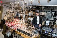 At the opening gala of Forty Five Ten, designer/artist Douglas Little displayed his installation, <i>The Mad Distillery</i>. (Rhi Lee)