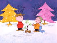 Charlie Brown and Linus pick out a tree in a scene from <i>A Charlie Brown Christmas</i>. (United Features Syndicate)